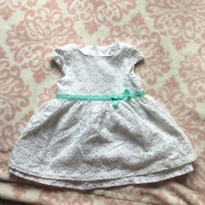 Carters Formal eyelet white dress 6 months